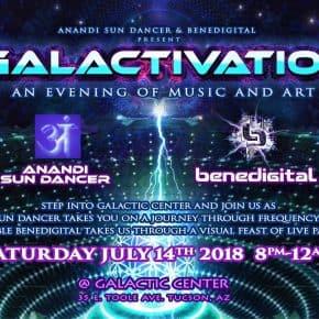 Anandi Sun Dancer & Benedigital Live at Galactic Center